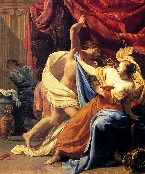 Lucretia and Tarquin, by Simon Vouet.