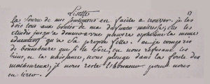 Mme de Graffigny manuscript.