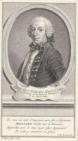 Paul Desforges-Maillard, by Pieter Tanjé, 1756.