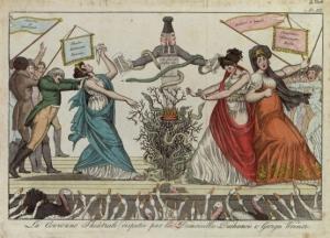 La Couronne Théâtrale disputée par les Demoiselles Duchesnois et Georges Weimer